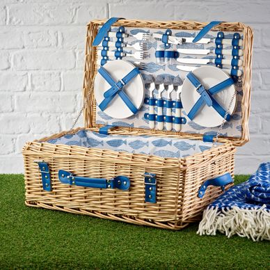 4 Person Picnic Hamper - Ocean