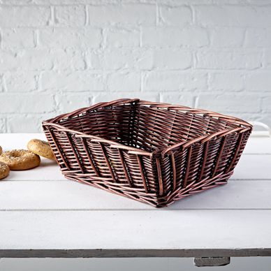 Large Chunky Weave Wicker Tray