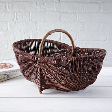 Large Rustic Wicker Trug