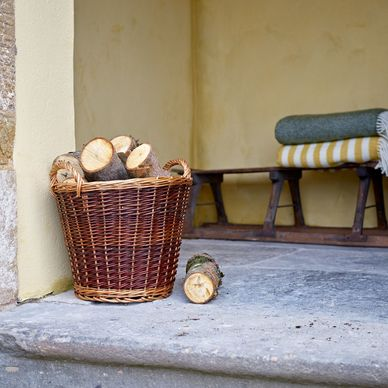 Small Wicker Log Basket