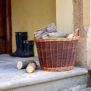 Medium Wicker Log Basket