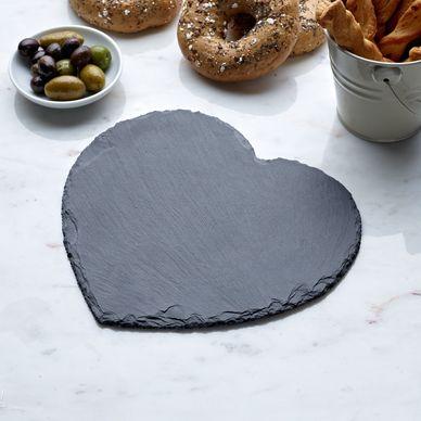 Heart Cheeseboard - Slate