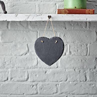 Small Heart Slate Chalkboard