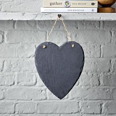 Large Heart Slate Chalkboard