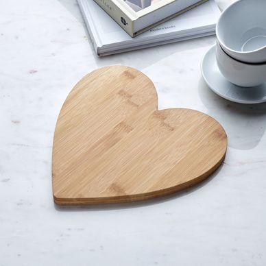 Heart Serving Board - Bamboo