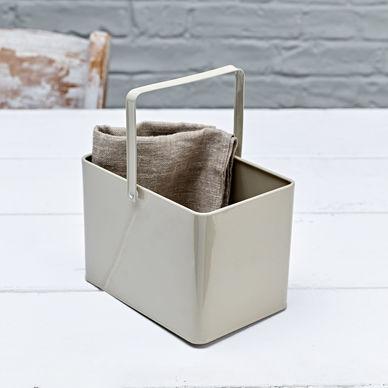 Rectangular Bucket - Olive Grey