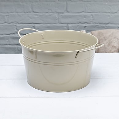Large Round Tub - Olive Grey